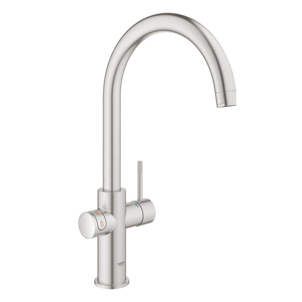Grohe red kokend water kraan supersteel