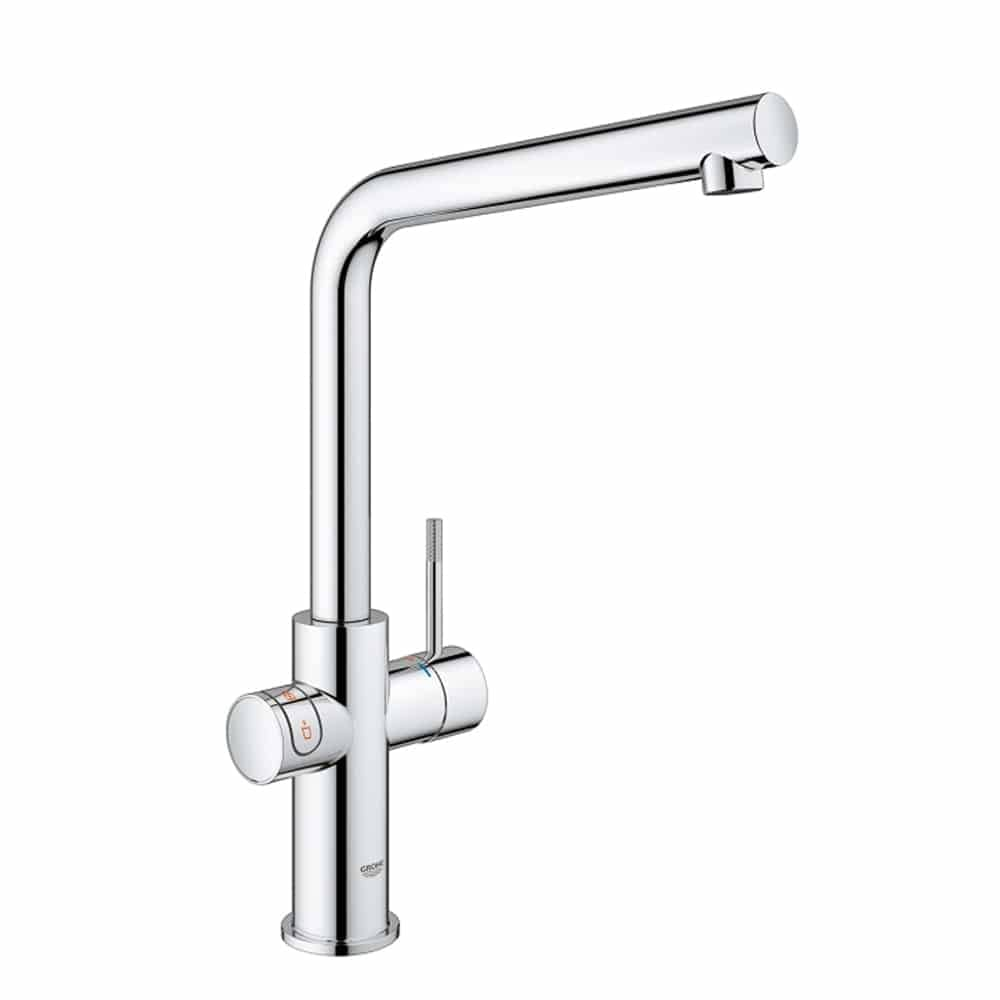 Grohe red duo chroom kokend water kraan L uitloop